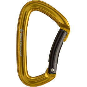 Black Diamond Positron Carabiner Bent Yellow